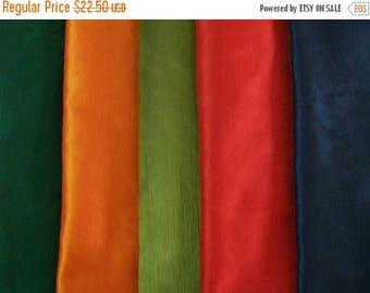 15% off on Set of 5 fat quarters of dupioni pure silks