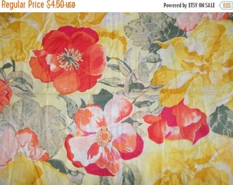 15% off on Half yard of floral cotton fabric on yellow