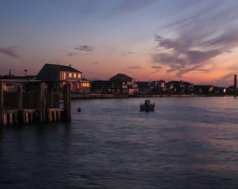 Sunset Photo Note card | Blank Greeting Card | Magic Hour | Fire Island | Coastal Art, Beach Art