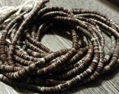 Dark Brown Shell Heishi Beads 8