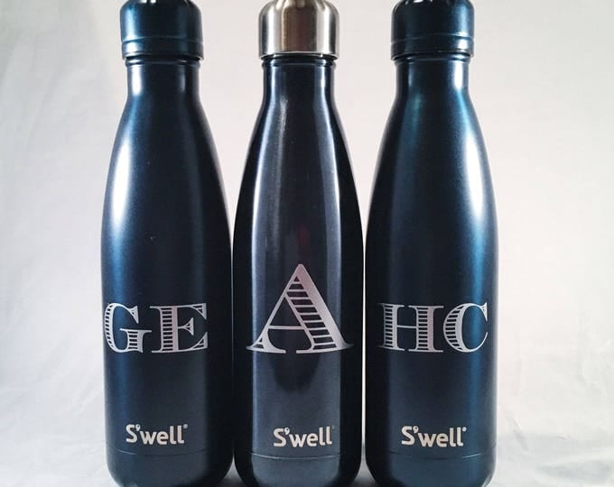 S'well Water Bottle with Personalized Custom Name or Monogram