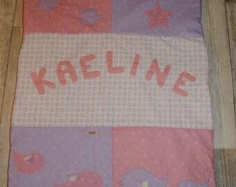 Birds and stars Kaeline pattern baby blanket