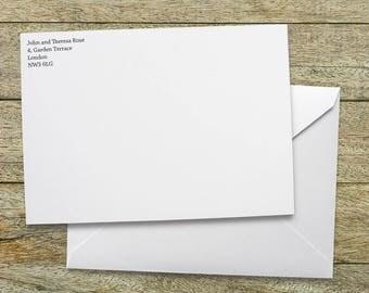 Add Return Address to Envelopes