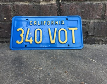 California license plate from 1986