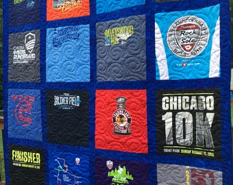 TShirt Quilts, 20 Shirts, Custom T-Shirt Quilt, Deposit,  20 Shirts Block TShirt Quilt, Tee Shirt Quilt, FREE SHIPPING