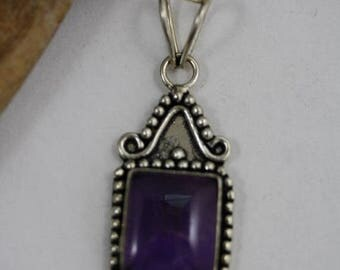 Christmas In July - Rectangle shaped Amethyst Pendant - Item 250