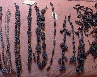 LOT TRIMMING passementerie silk 19th