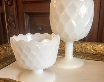 E.O. Brody Large and Small Compote Dessert or Sherbet Cup (Set of 2)