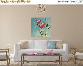 large pastel art // pink wall art // santa cruz boardwalk art - Number 35,  ready-to-hang canvas art