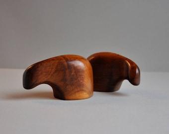 "Modernist ""Elephant"" Rosewood Salt & Pepper by Don Shoemaker"
