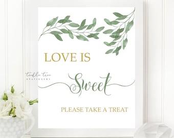 Love is Sweet Sign Art Print - Urban Foliage