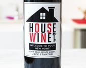 Real Estate Closing Gift, Lender Closing Gift, Client Gift, New Home, Personalized Wine Labels, Set of 18