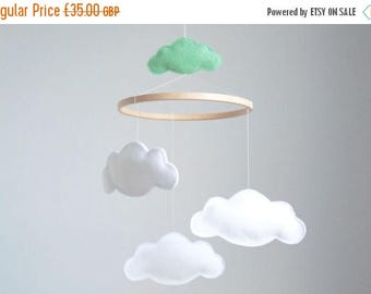 SALE Cloud Baby Cot Mobile  - Custom Colors Available