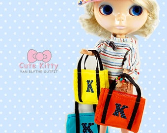 Clearance Sale - YAN - Orange K Bag for Blythe doll