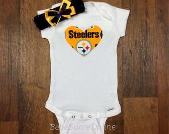 Pittsburgh Steelers Headband AND Bodysuit