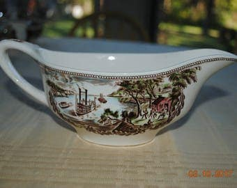 Johnson Brothers Made in England Gravy in Historic America Brown Multicolor