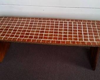 Mid Century Lava Orange Surfboard Coffee Table