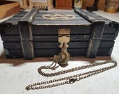 SALE! Lock & Key Witches' Shadow Box, Altar Cloth, Spell Book, Key Necklace, Deer Antler + Quartz Crystal Necklaces, Raw Amethyst