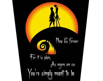 Jack and Sally Moon, You're Simply Meant to Be Wedding Card