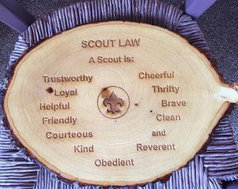 Scout Law Plaque