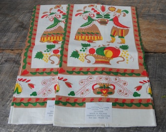 Vintage Kitchen Towles Linen Cotton Blend Made in Poland