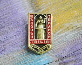 "Vintage Georgian badge,pin.""TBILISI"" USSR era."