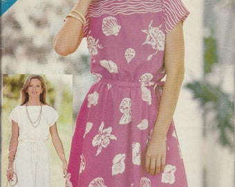1970's Sewing Pattern Butterick See & Sew 3801 Misses dress and belt bust 31.5, 32.5, 34