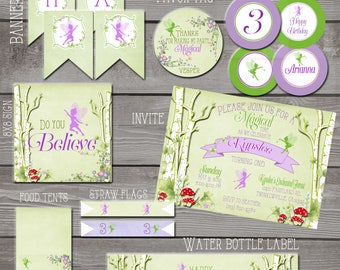Fairy Invitation printables, Woodland Fairy Invite, Printable Fairy set, Woodland Fairy Garden invitation, Fairy Garden Party