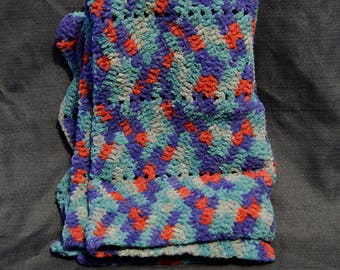 Super Soft Crocheted Baby Blanket / Doll Blanket / Afghan / Throw / Quilt