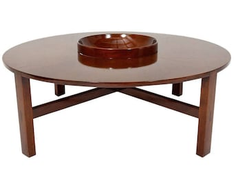 Mid Century Modern Edmond Spence Round Coffee Table