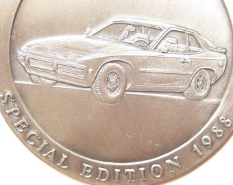 Vintage 1988 Porsche 924S Special Edition Celebration Jubilee Rare Badge Medallion Medal