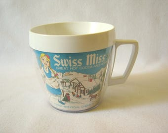 """Vintage SWISS MISS Hot Cocoa West Bend 3 1/4"""" Thermo-Serv CUP Excellent Condition"""