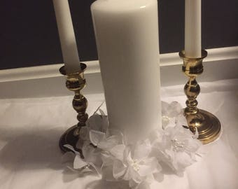 Brass plated candle holders