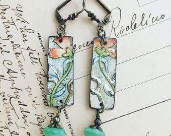 """Tin Jewelry Earrings """"Entwined"""" Tin for the Ten Year Tenth Wedding Anniversary"""
