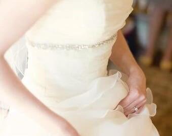 Bridal Sash, Wedding Sash, Bridal Belt, Crystal Bridal Sash, Rhinestone Sash, Prom Dress Sash Wedding Gown Belt Jeweled Belt Bridesmaid Sash