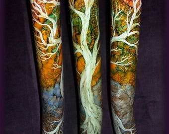 Tree of Life themed Didgeridoo, beautifully hand painted