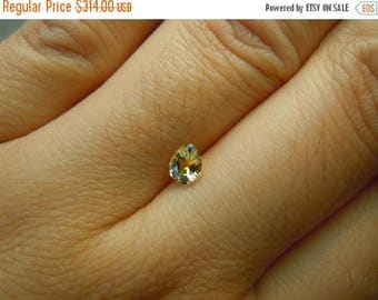 SUMMER FLASH SALE Genuine Montana Sapphire Yellow Pear cut .49 carat loose gemstone for engagement, jewelry or collections, perfect for gift