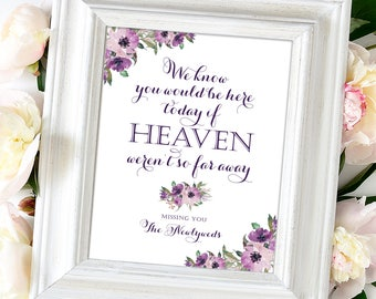 We Know You Would Be Here Today   8 x 10   DIY Printable   Vintage   Eggplant   Purple Blooms   PDF and JPG Files   Instant Download