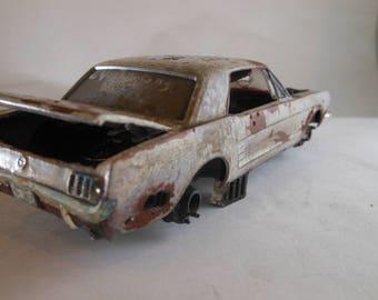 Scale Model Car.Steampunk,Ford Mustang,Classicwrecks,Pony Car,Junkyard Dog,Junker Model