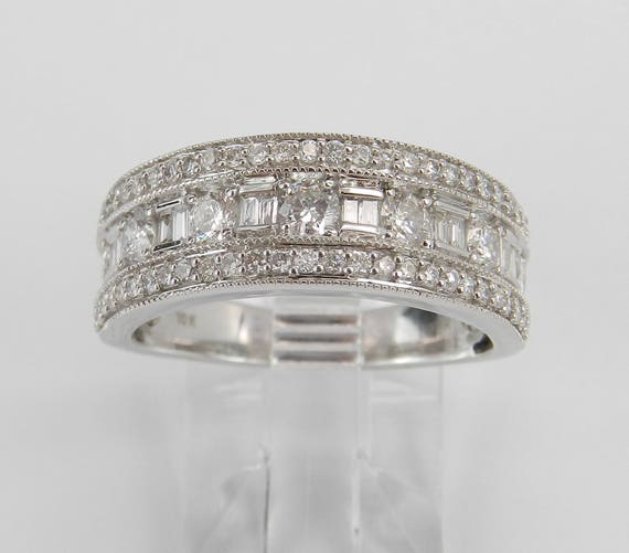 White Gold 1.00 ct Diamond Wedding Ring Anniversary Band Stackable Size 7
