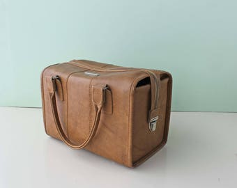 Vintage Samsonite Vinyl Bag, Overnight Bag
