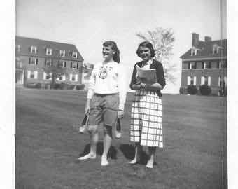 "Vintage Snapshot ""MIT Undergrads"" Massachusetts Institute Of Technology Coeds Found Vernacular Photo MIT Sweatshirt"