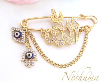 Stroller Pin Evil eye, Allah pin