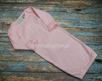 Girls Monogrammed baby gown