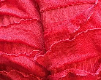 Ruffled knit fabric multiple colors