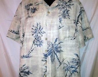 "BIG SUMMER SALE 90s Vintage Aloha Shirt-Silk Batik-44"" Chest-Medium-Hawaiian Hawaii Cruise Resort Luau Beach-Men Man-Hipster-Collar Loop"