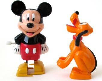 Mickey Mouse, Pluto Wind-Ups Disney, Vintage Toys, Walt Disney Cartoons, Donald Duck, Goofy, Minnie Mouse