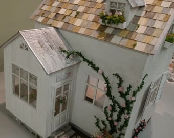 Rose Cottage Custom Dollhouse Shabby Chic 1:12 scale