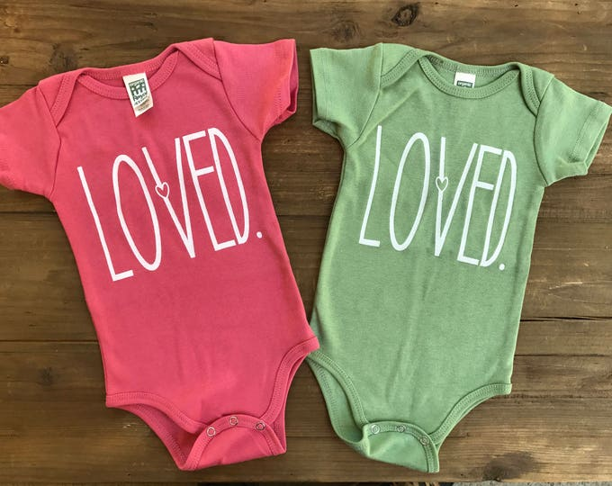 LOVED Organic Baby Onesie Bodysuit