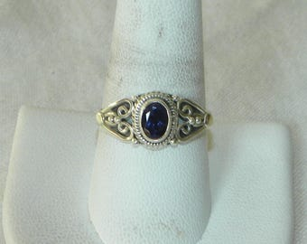 Melody Stone Ring Handmade 11x8mm Purple Super 7 Cacoxenite Gemstone Size 9 1/2 Sterling Silver Ring Healing Take 20% Off Silver Jewelry